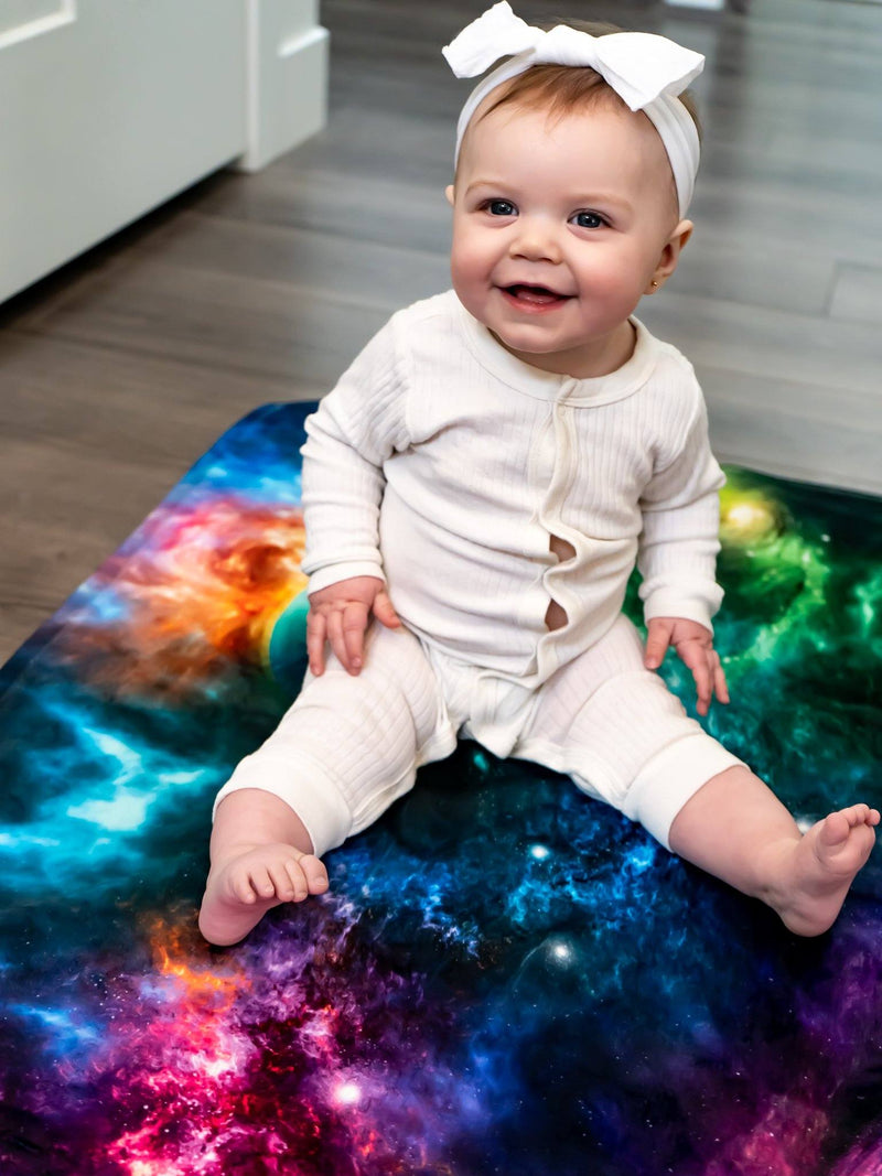 Space Art Baby Blanket Baby Blanket Electro Threads