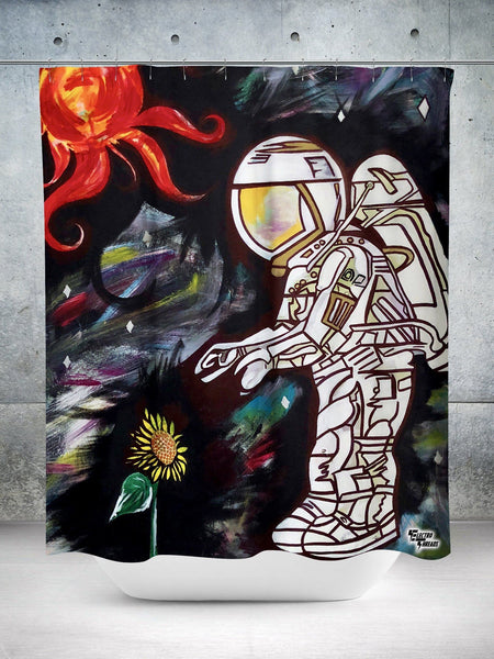 Space Cadet Shower Curtain Shower Curtains Electro Threads