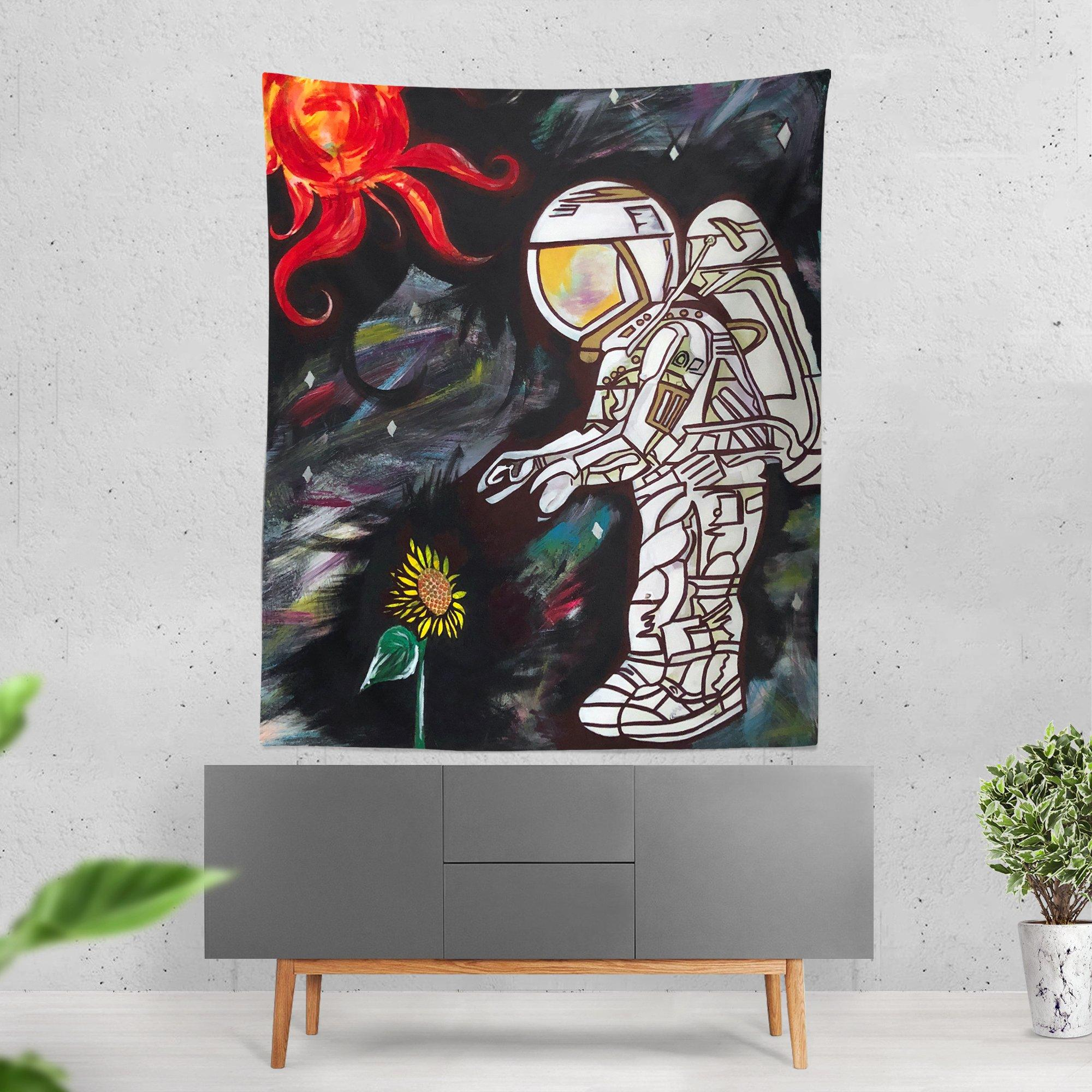 Space Cadet Wall Tapestry Tapestry Electro Threads