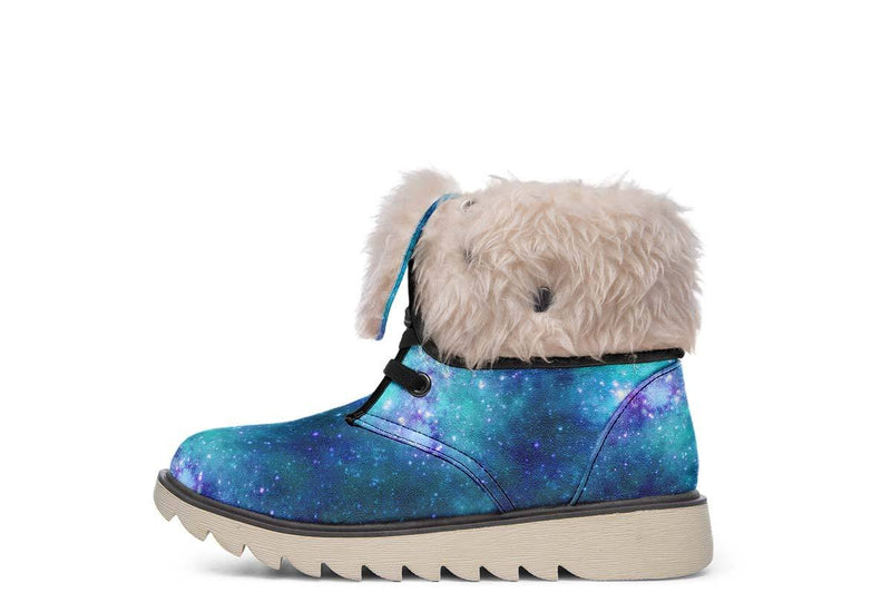 Space Jam Galaxy Moon Boots YWF Women's Moon Boots Cream White Sole US 4.5 / EU35