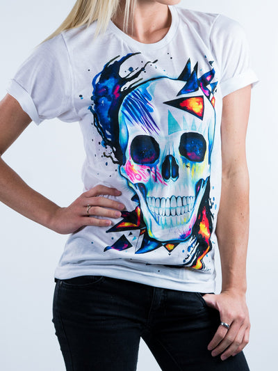 Space Skull Unisex Crew T-Shirts Electro Threads