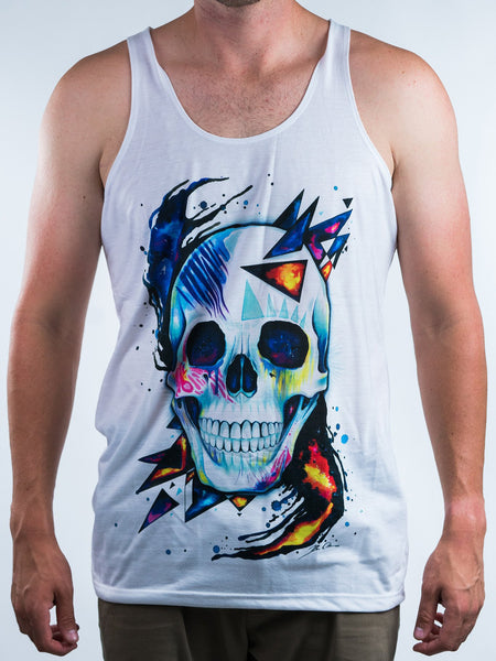 Space Skull Unisex Tank Top Tank Tops Electro Threads