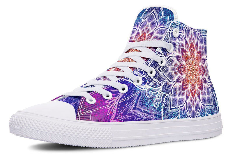 Spark Of Joy Mandala Hightop YWF Women's Hightops Black Sole US 5 / EU35.5