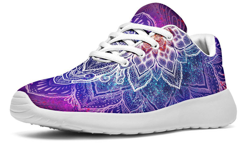Spark Of Joy Mandala Sneakers YWF Women's Sneakers Black Sole US 5.5 / EU36