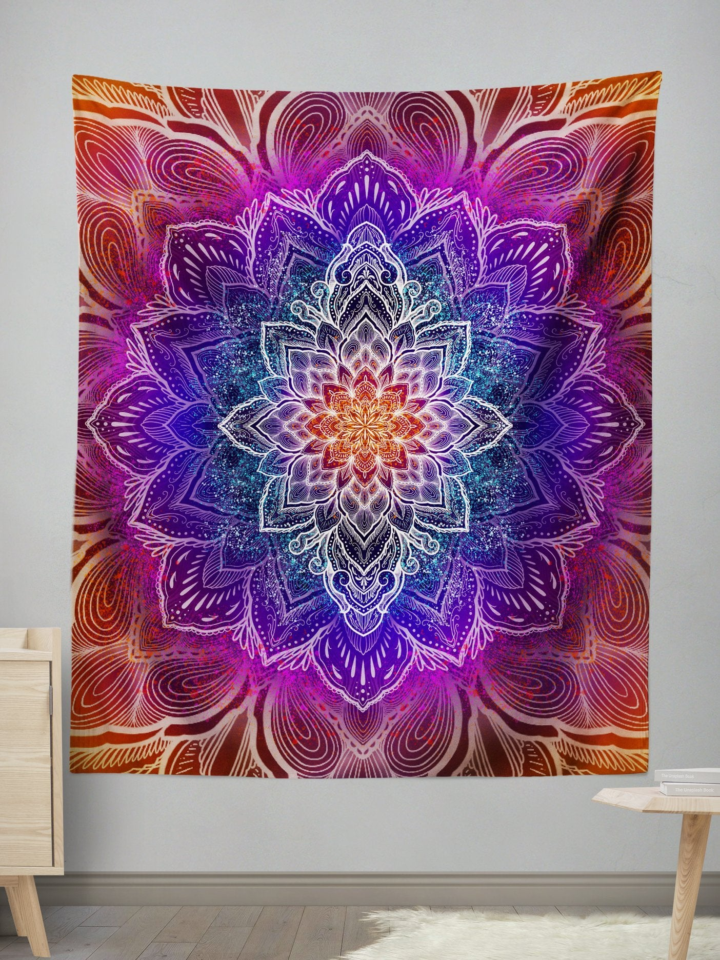 Spark of Joy Wall Tapestry Tapestry Electro Threads