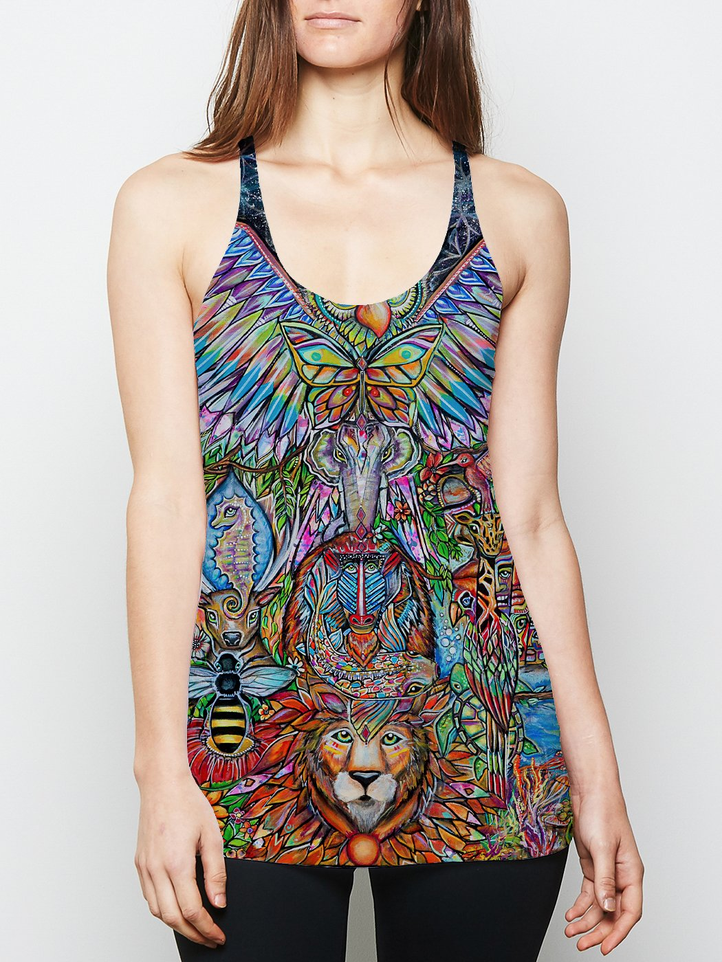 Spirit Totem Racerback Tank Top Tank Tops Electro Threads