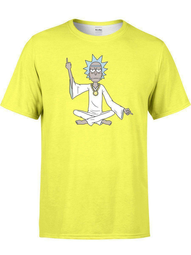 Spiritual Rick Unisex Crew-T-Shirts-Rick and Morty Licensed Apparel-Electro Threads