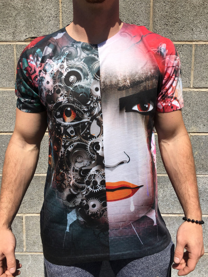 Split Personality Unisex Crew T-Shirts T6