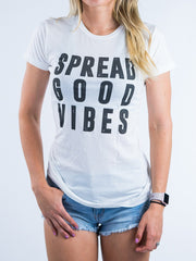Spread Good Vibes Unisex Crew T-Shirts Electro Threads