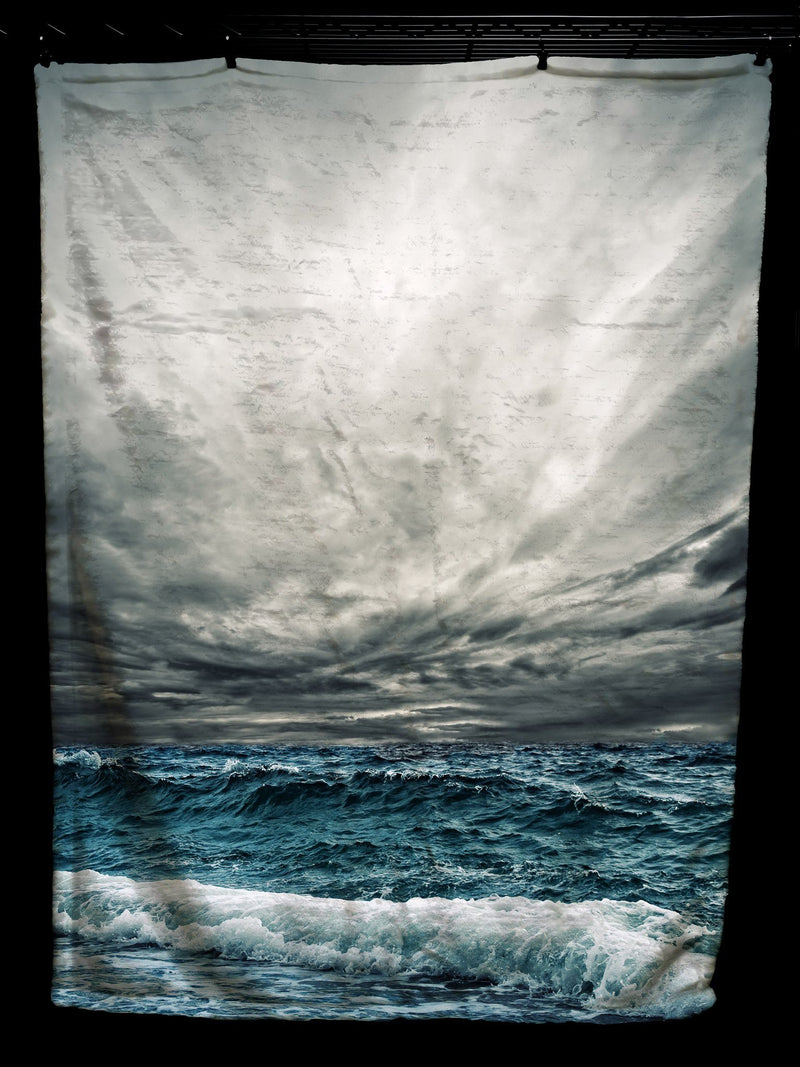 Stormy Ocean Baby Blanket Baby Blanket Electro Threads