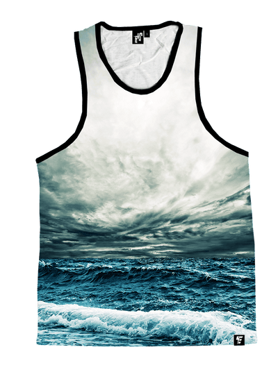 Stormy Ocean Unisex Tank Top Tank Tops T6 X-Small