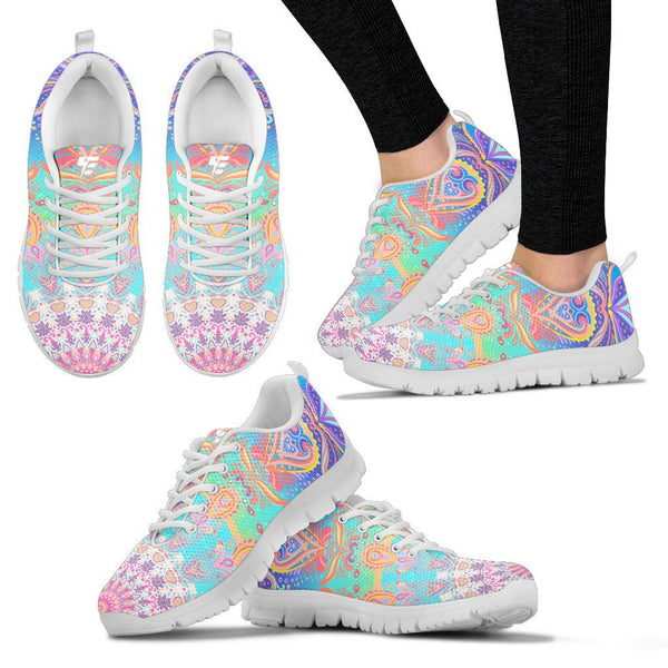 Strength Mandala Women's Sneakers Electro Threads Women's Sneakers - White - Strength Mandala US5 (EU35)