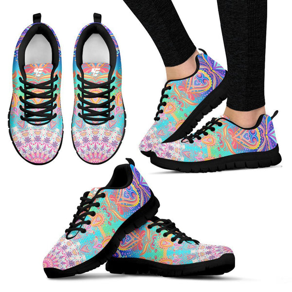 Strength Mandala Women's Sneakers Electro Threads Women's Sneakers - Black - b US5 (EU35)