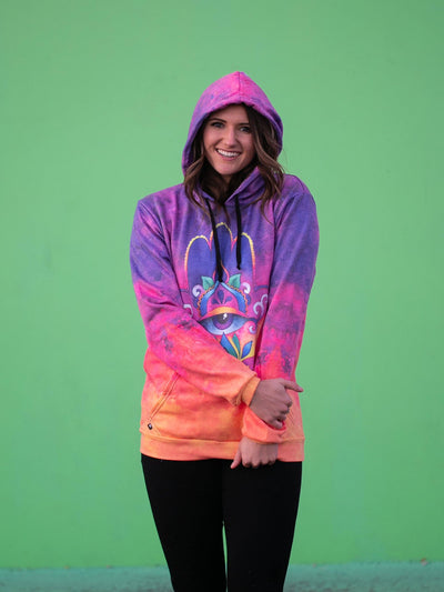 Sunset Hamsa Magic-Soft Unisex Hoodie Pullover Hoodies T6