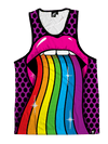 Taste the Rainbow Unisex Tank Top Tank Tops T6 X-Small Purple