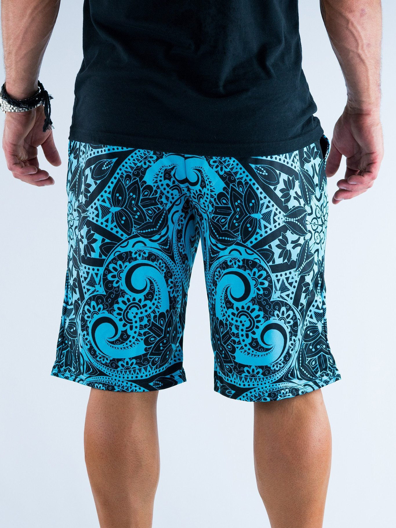 Teal Mandala Shorts Mens Shorts T6