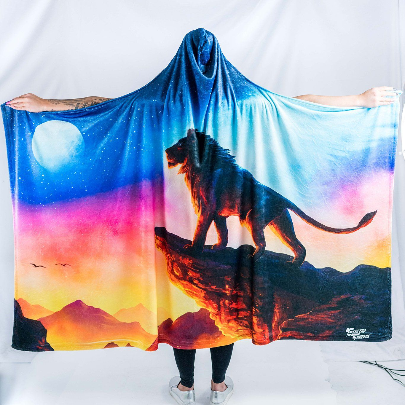 The Circle of Life Hooded Blanket Hooded Blanket Electro Threads