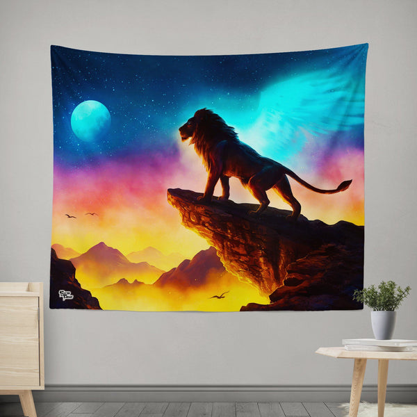The Circle of Life Tapestry Tapestry Electro Threads