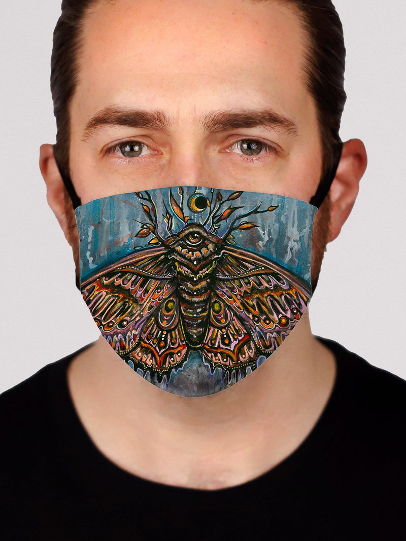 Third Eye Moth Face Mask Face Masks Electro Threads