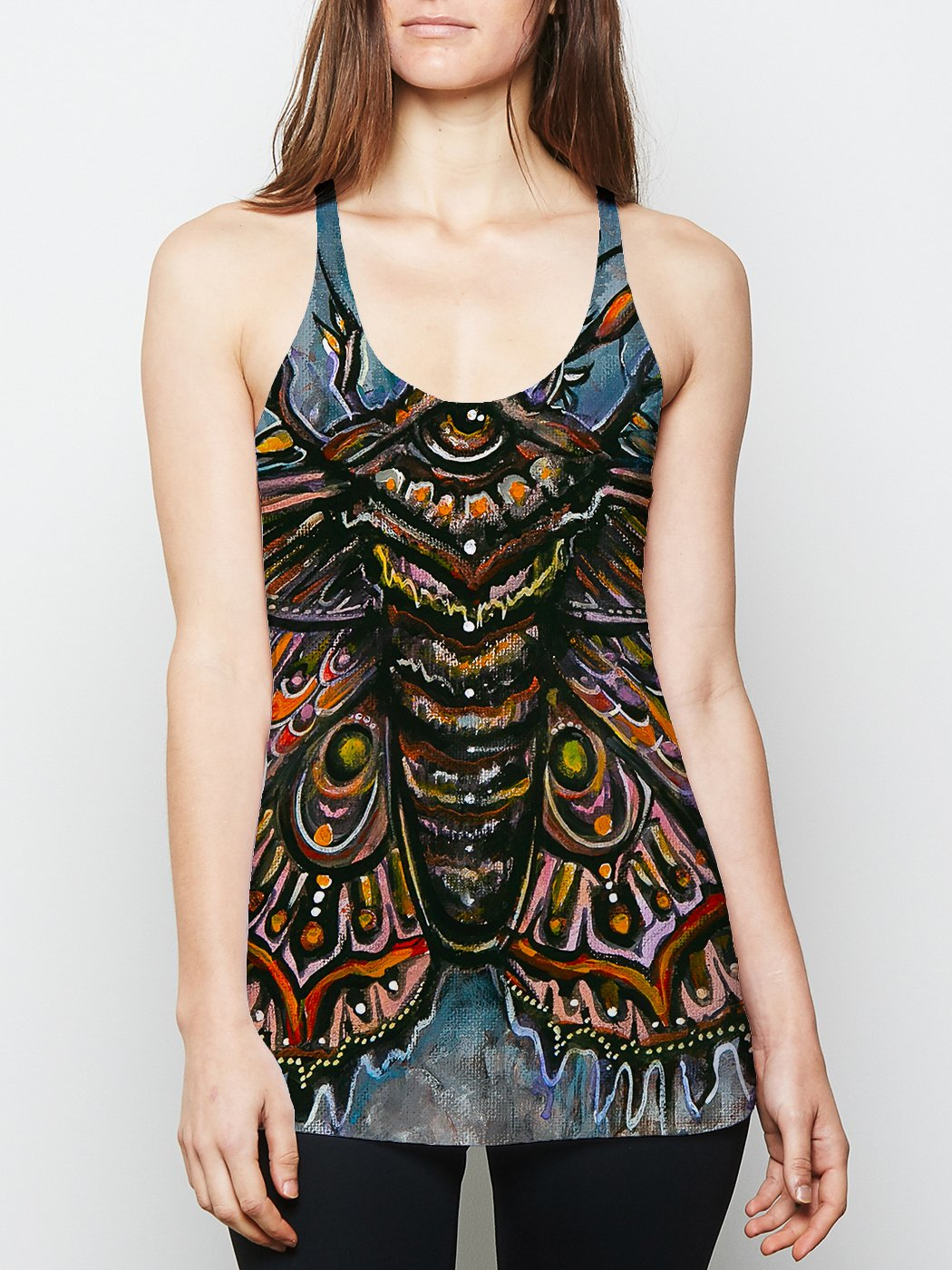 Third Eye Moth Racerback Tank Tank Tops Electro Threads