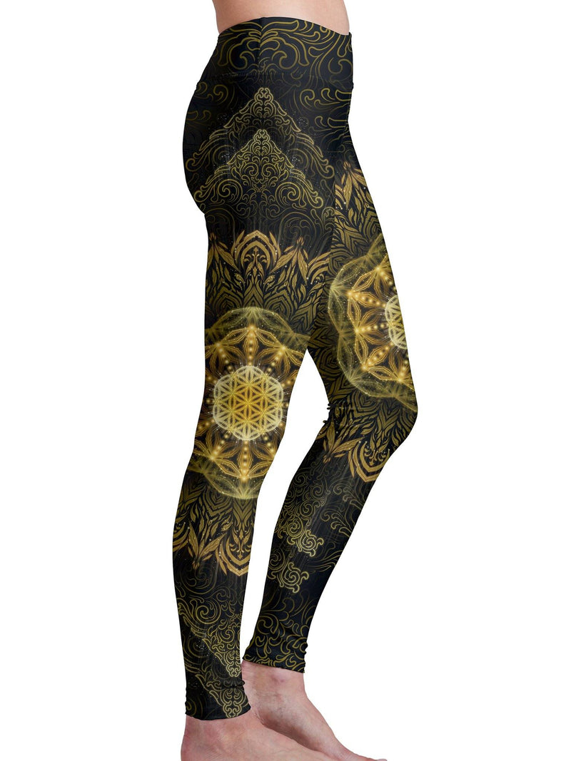 Tibetan Mantra Leggings Leggings Electro Threads