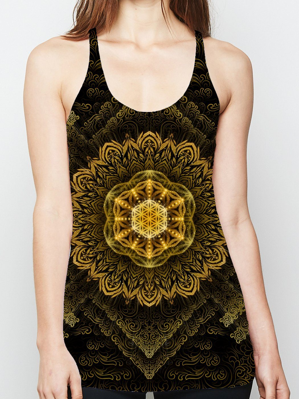 Tibetan Mantra Racerback Tank Top Tank Tops Electro Threads