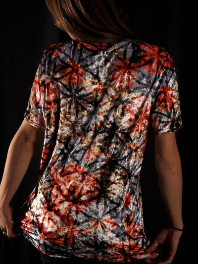 Tie Dye Flower Unisex Crew T-Shirts Electro Threads