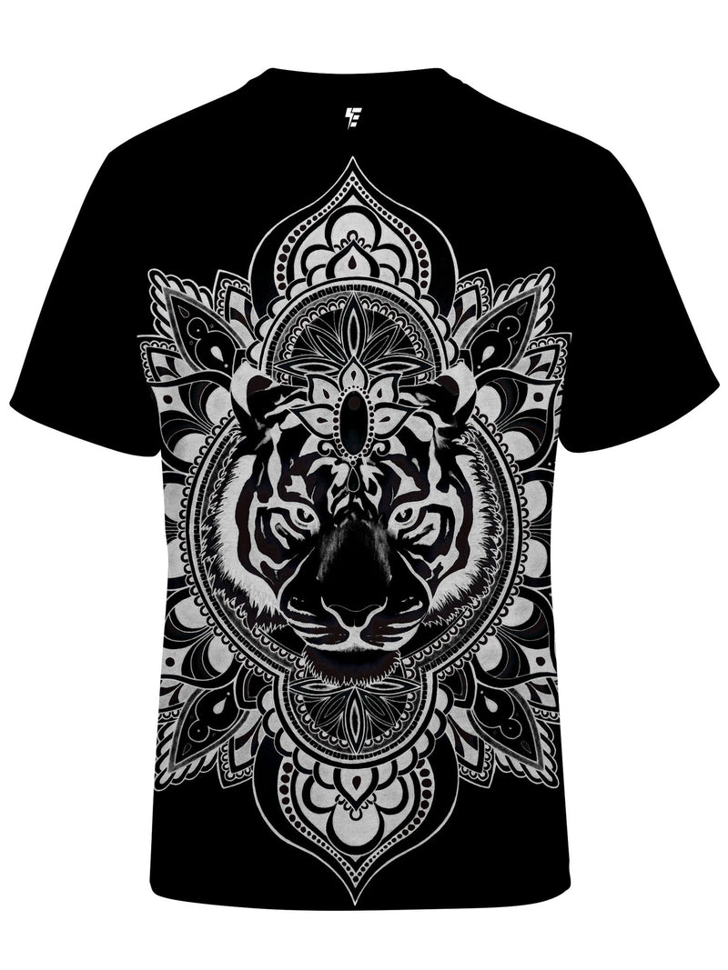 Tiger Mandala Unisex Crew T-Shirts Electro Threads