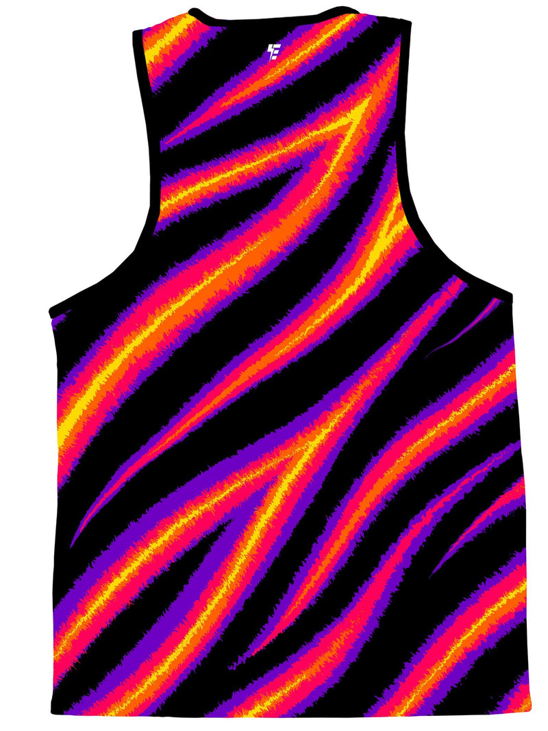 Tiger Stripe (Warm) Unisex Tank Top Tank Tops Electro Threads