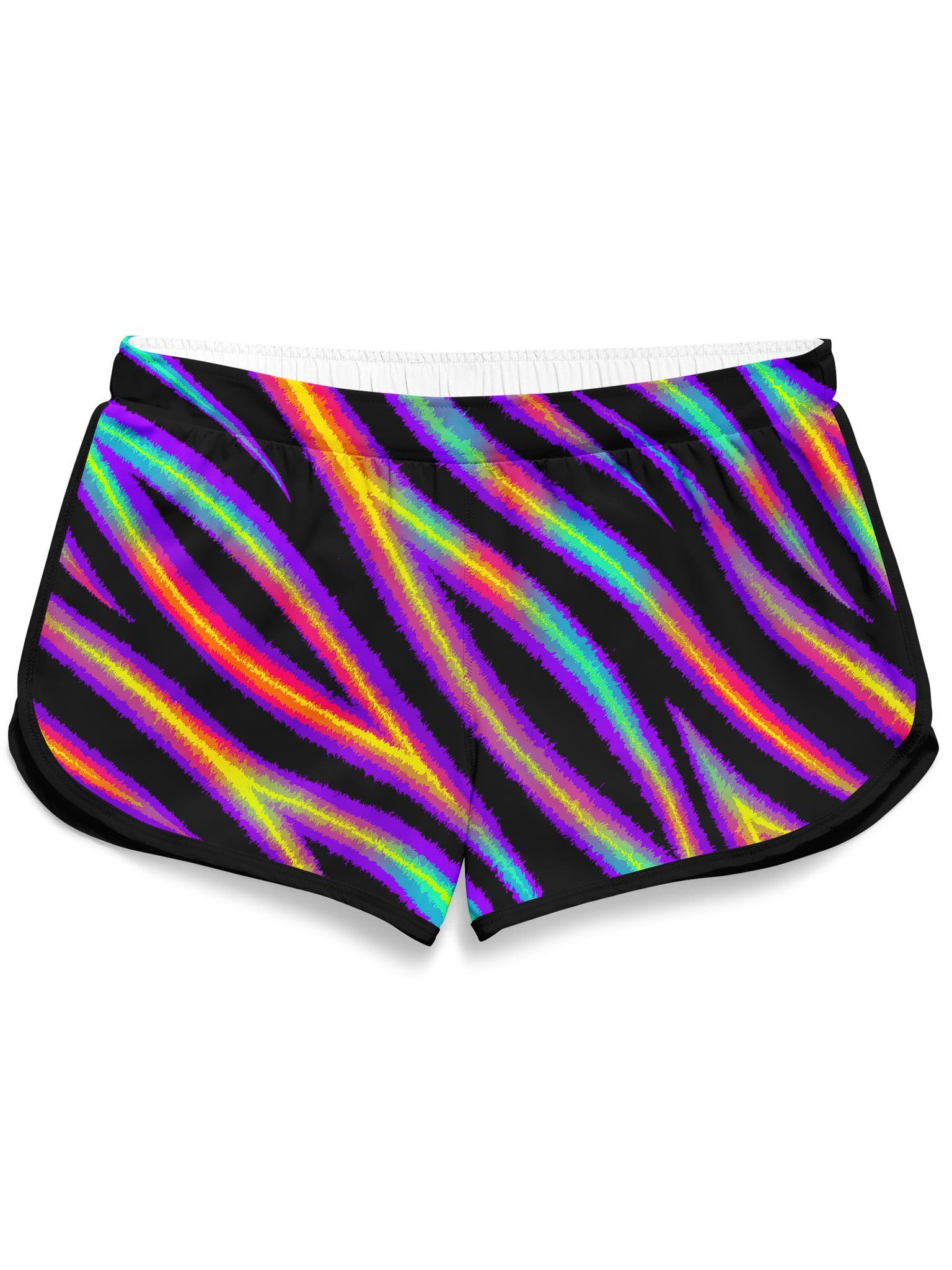 Tiger Stripes (Colorful) Retro Shorts Women's Shorts Electro Threads