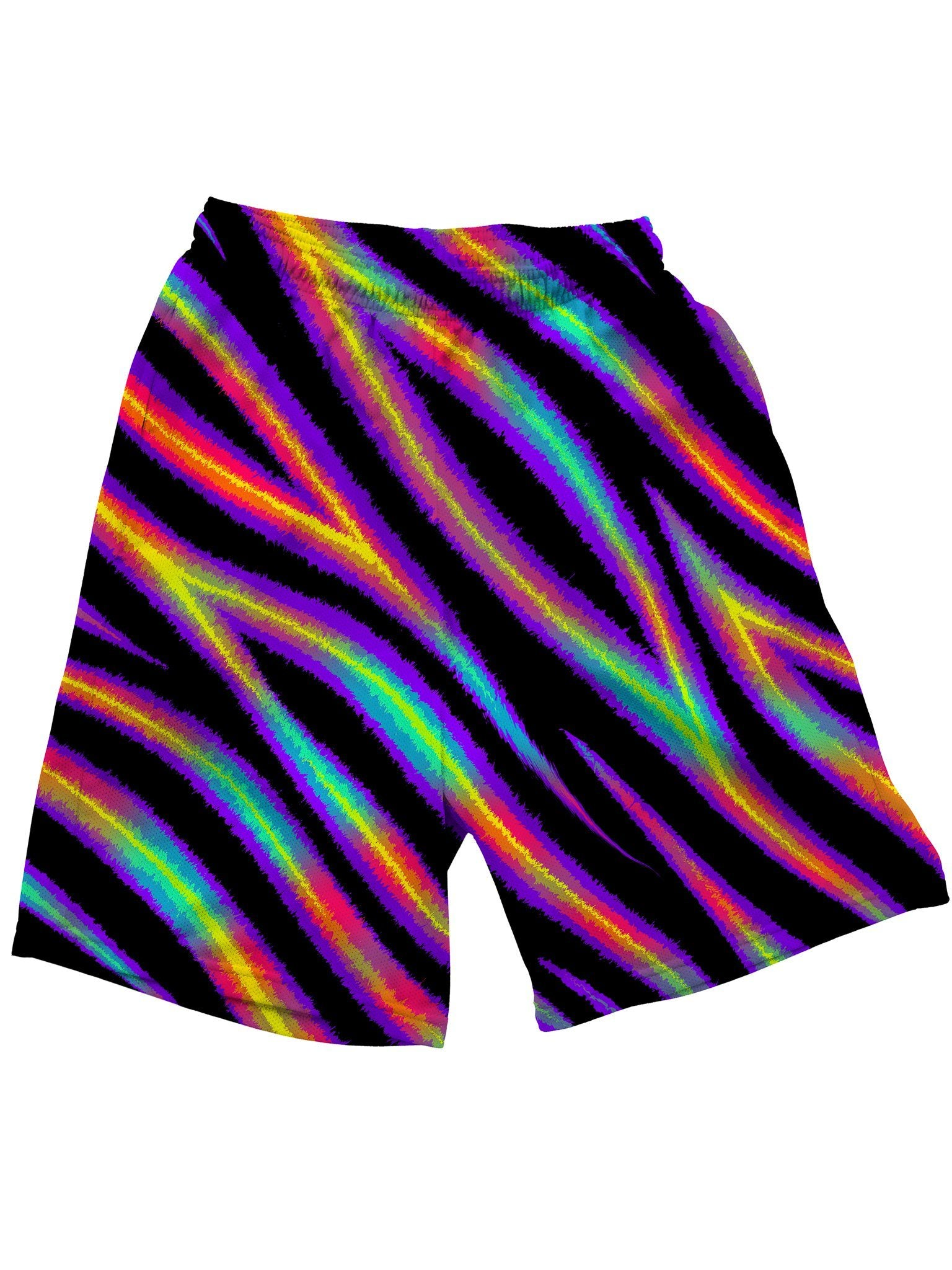 Tiger Stripes (Colorful) Shorts Mens Shorts Electro Threads
