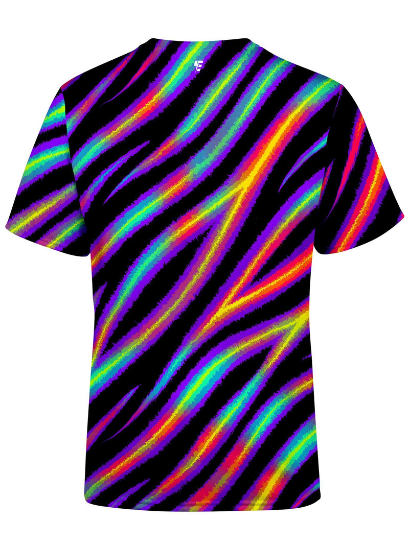 Tiger Stripes (Colorful) Unisex Crew T-Shirts Electro Threads