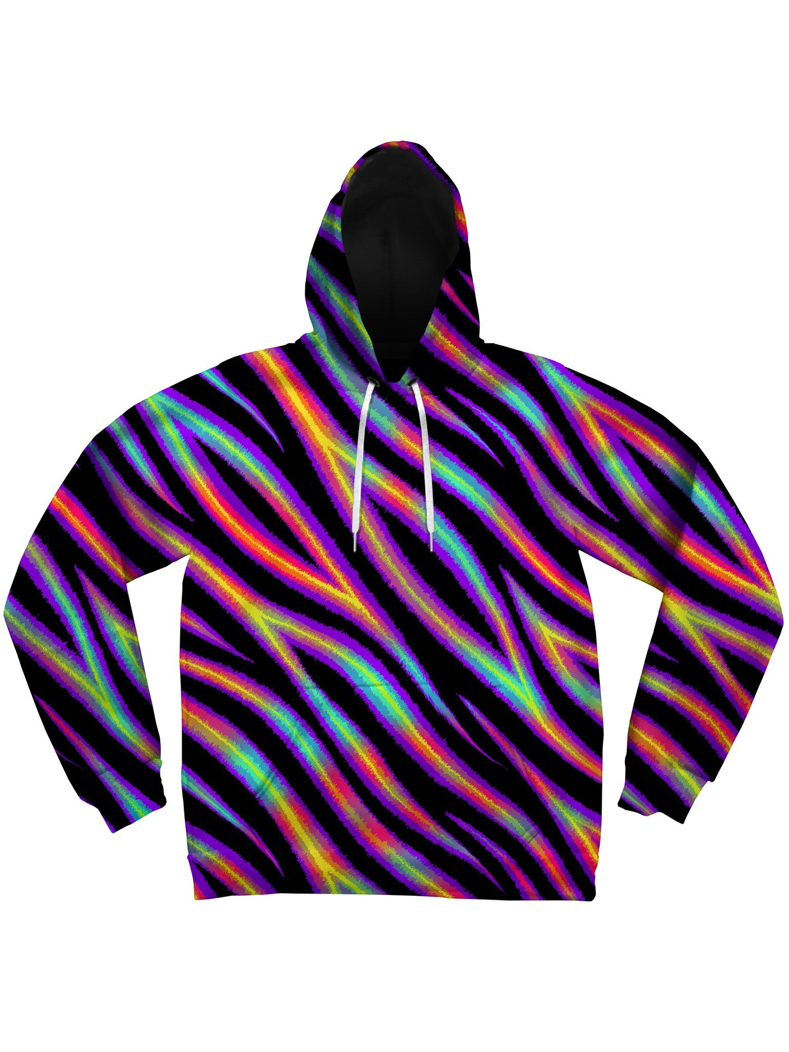 Tiger Stripes (Colorful) Unisex Hoodie Pullover Hoodies Electro Threads