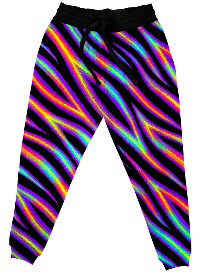 Tiger Stripes (Colorful) Unisex Joggers Jogger Pant Electro Threads