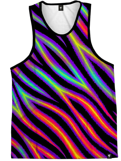 Tiger Stripes (Colorful) Unisex Tank Top Tank Tops Electro Threads