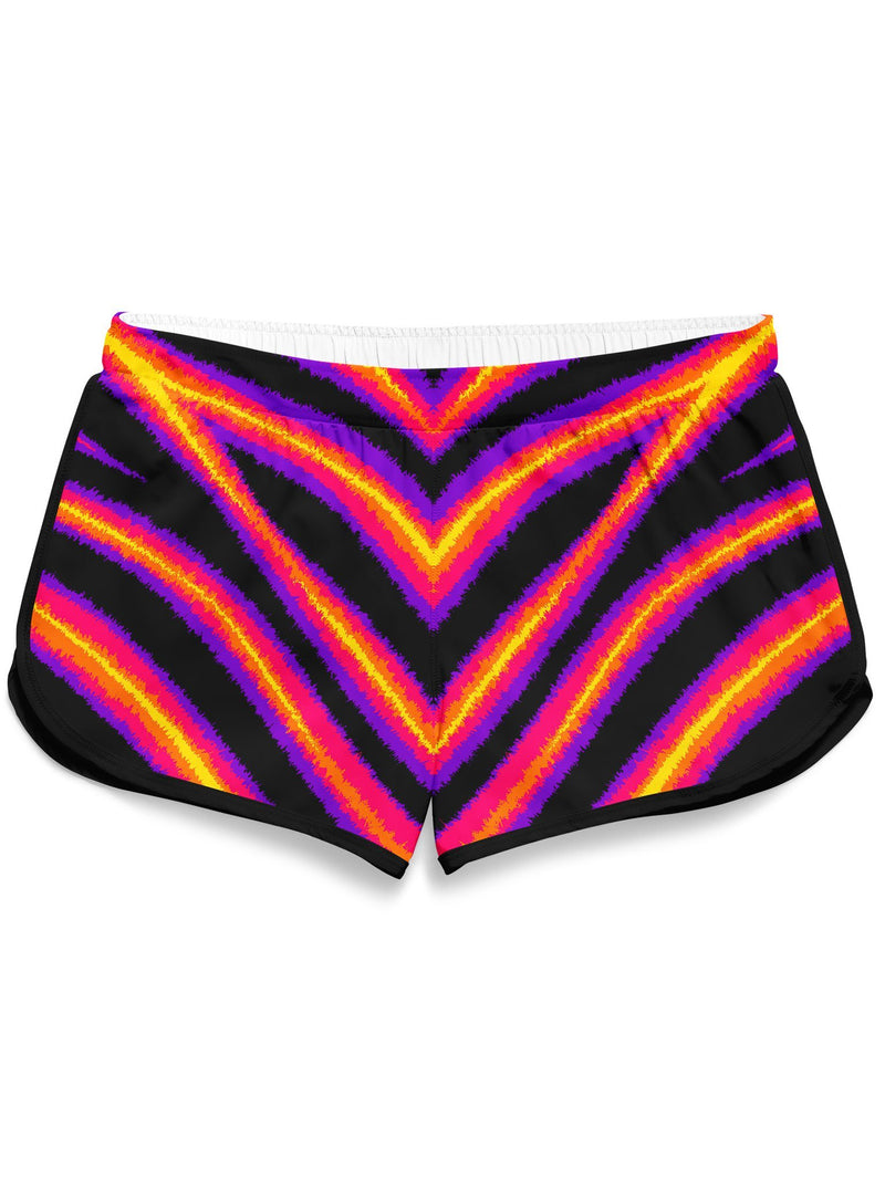 Tiger Stripes Retro Shorts Women's Shorts Electro Threads