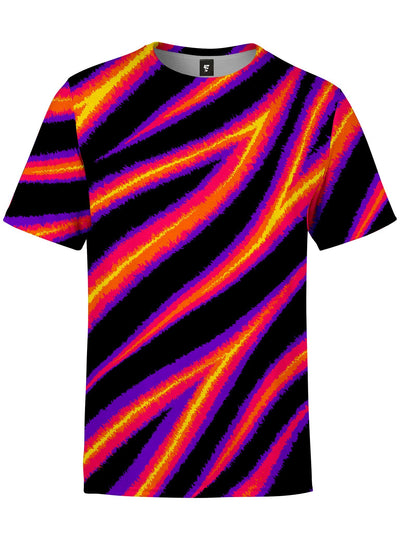 Tiger Stripes (Warm) Unisex Crew T-Shirts Electro Threads