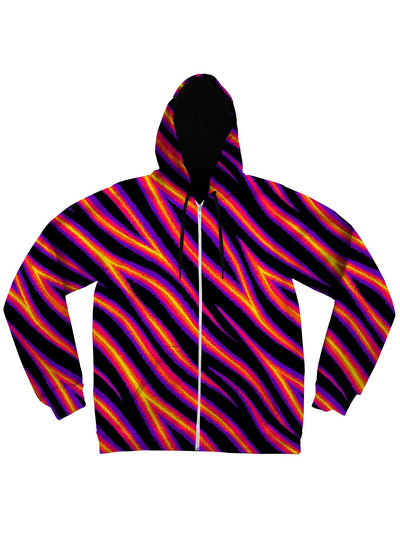 Tiger Stripes (Warm) Unisex Hoodie Pullover Hoodies Electro Threads