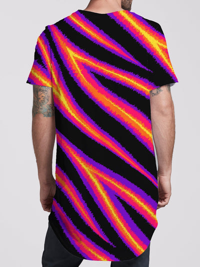 Tiger Stripes (Warm) Unisex Tall Tee Mens Tall Tee Electro Threads