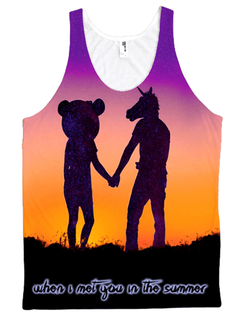 Traveling Unicorn Unisex Tank #2 Tank Tops Electro Threads X-Small