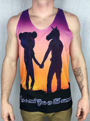 Traveling Unicorn Unisex Tank #2 Tank Tops Electro Threads