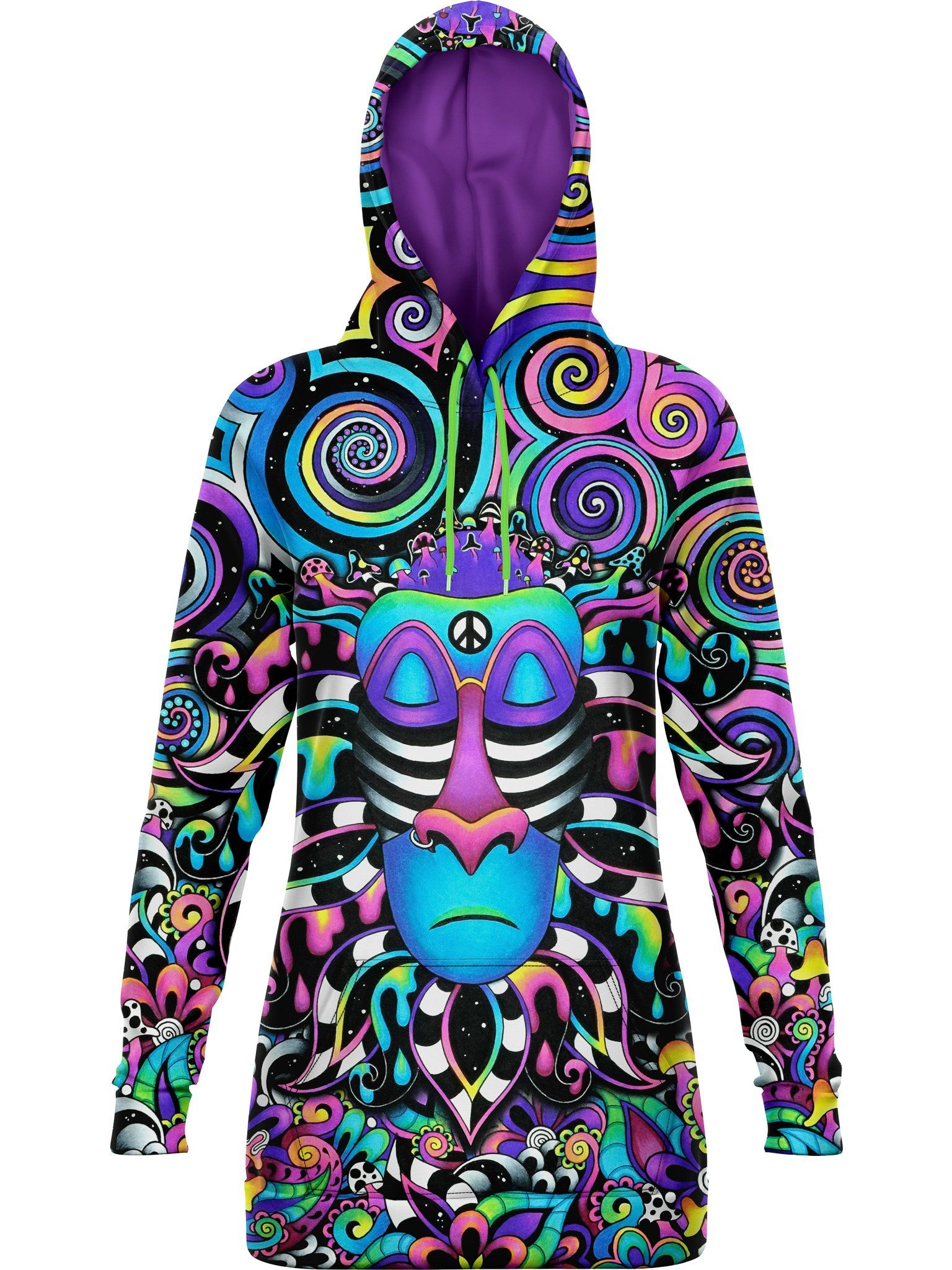 Tripfiki Hooded Dress Hoodie Dress Electro Threads