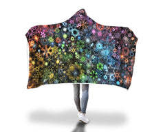Trippy Constellation Hooded Blanket Hooded Blanket Electro Threads