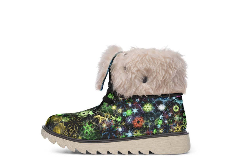 Trippy Constellation Moon Boots YWF Women's Moon Boots Cream White Sole US 4.5 / EU35
