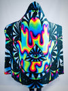 Trippy Hamsa Hooded Blanket Hooded Blanket Electro Threads
