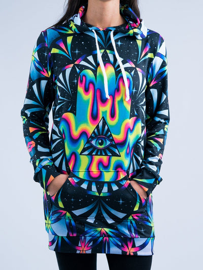 Trippy Hamsa Hooded Dress Hoodie Dress T6