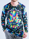 Trippy Hamsa Jersey Long Sleeve Shirt Long Sleeve T6