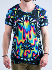 Trippy Hamsa Men's Vented Tee Mens Vented Tee T6 XS BLACK
