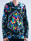 Trippy Hamsa Unisex Hooded Long Sleeve Shirt Long Sleeve T6 2XS Black