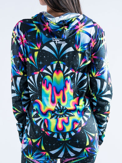 Trippy Hamsa Unisex Hooded Long Sleeve Shirt Long Sleeve T6
